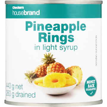 Picture of Checkers Housebrand Pineapple Rings Can 440g