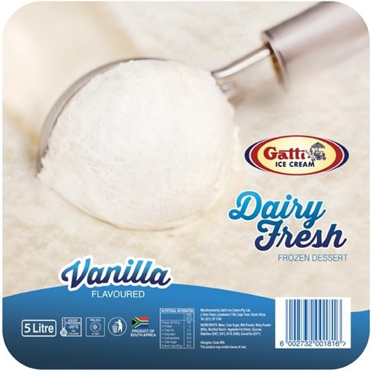 Picture of Gatti Dairy Fresh Vanilla Ice Cream Tub 5l