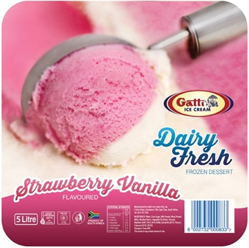Picture of Gatti Dairy Fresh Vanilla Strawberry Ice Cream 5l