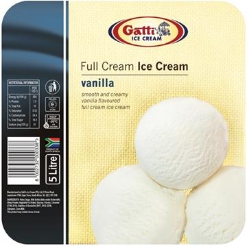 Picture of Gatti Full Cream Vanilla Ice Cream Tub 5l