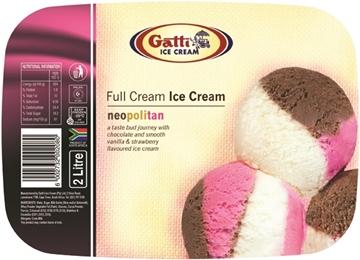 Picture of Gatti Neopolitan Full Cream Ice Cream 2L