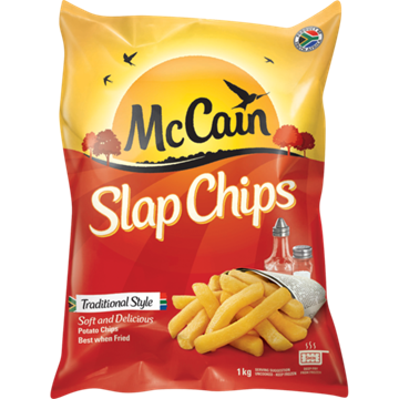 Picture of McCain Frozen Potato Slap Chips 1kg