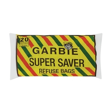 Picture of Garbie Super Saver Refuse Bags 20 Pack