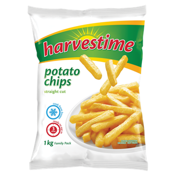 Picture of Harvestime Frozen Oven Bake Chips 1kg