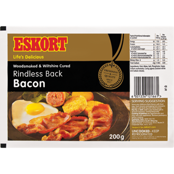 Picture of Eskort Rindless Back Bacon 200g