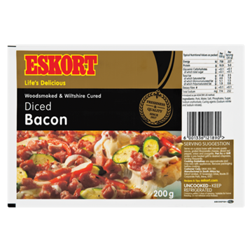 Picture of Eskort Diced Bacon 200g Pack
