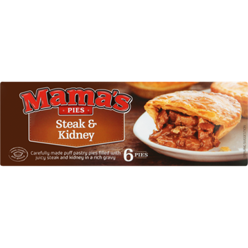 Picture of Mama's Pies Frozen Steak & Kidney Pies 6 Pack
