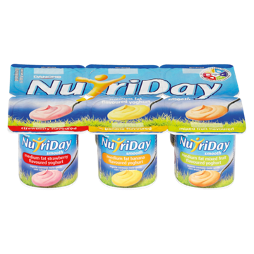 Picture of Nutriday Strawberry/Banana/Mixed Yoghurt 6x100g
