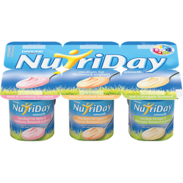 Picture of Nutriday Smooth Tropical Yoghurt Pack 6 x 100g