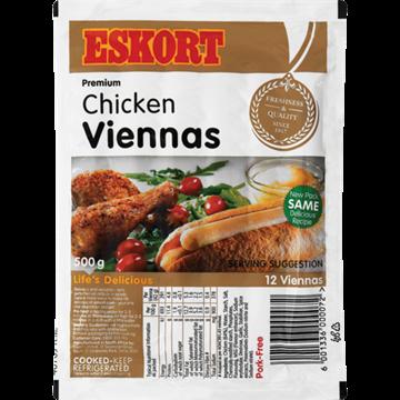 Picture of Eskort Chicken Viennas 500g