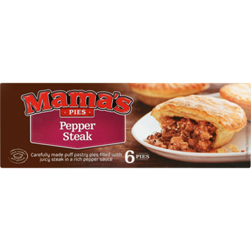 Picture of Mama's Pies Frozen Pepper Steak Pies 6 Pack