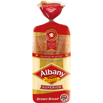 Picture of Albany Superior Brown Bread Sliced 700g