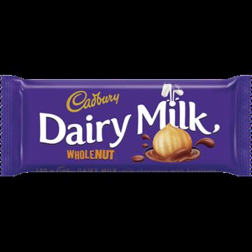 Picture of Cadbury Dairy Milk Whole Nut Chocolate Slab 150g