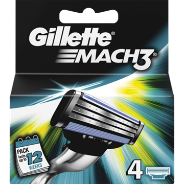 Picture of Gillette Mach3 Blades 4 Pack