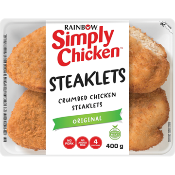 Picture of Rainbow Simply Chicken Original Crumbed Steaklets