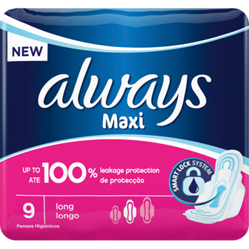 Picture of Always Maxi Plus Sanitary Pads 9 Pack