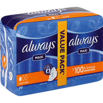 Picture of Always Duo Pack Sanitary Pads 20's