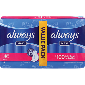 Picture of Always Maxi Duo-Pack Sanitary Pads 18 Pack