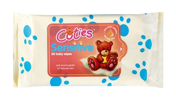 Picture of Cuties Unscented Baby Wipes 80 Pack