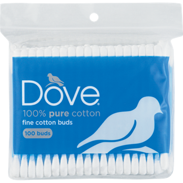 Picture of Dove 100% Pure Cotton Buds Zipper Bag 100 Pack
