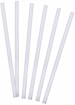 Picture of Clear Milkshake Straws Wrapped 6mm 2000s BS0003