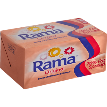 Picture of MARGARINE RAMA ORIGINAL 70% 500G BRICK