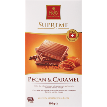 Picture of Frey Pecan & Caramel Chocolate Slab 100g
