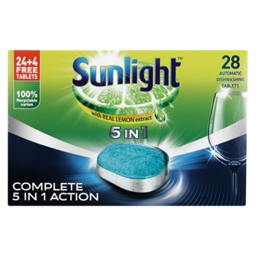 Picture of Sunlight 5-In-1 28 Dishwasher Tab Pack