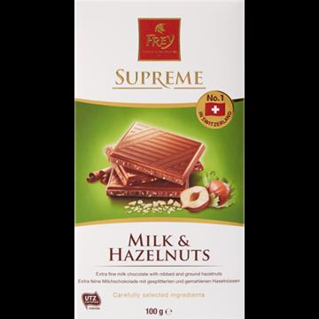 Picture of Frey Hazelnut Milk Chocolate Slab 100g