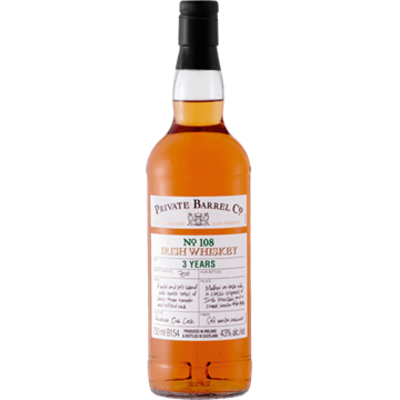 Picture of Private Barrel Co No108 3 Year Irish Whiskey 750ml