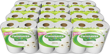 Picture of Twinsaver Superior Wrapped 2Ply Toilet roll 12x4's