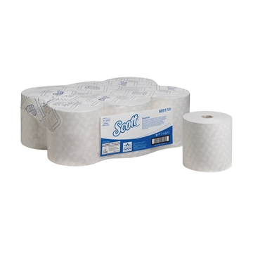 Picture of Scott Max White Rolled Hand Towel 6 x 350m Each