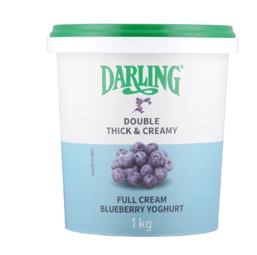 Picture of Darling Blueberry Yoghurt Full Cream 1kg
