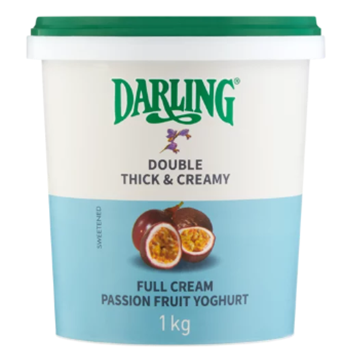 Picture of Darling Full Cream Passion Fruit Yoghurt 1kg