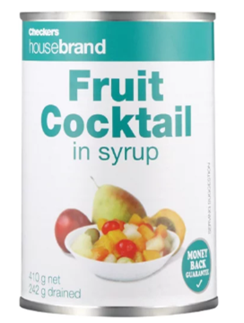Picture of Checkers Housebrand Fruit Cocktail Can 410g