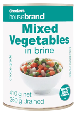 Picture of Checkers Housebrand Mixed Vegetables 410g