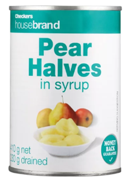 Picture of Checkers Housebrand Pear Halves Can 410g
