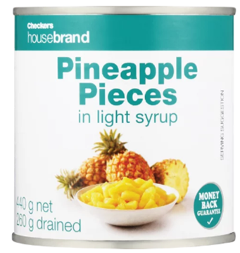 Picture of Checkers Housebrand Pineapple Pieces Can 440g