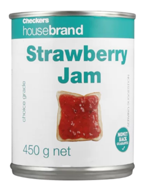 Picture of Checkers Housebrand Strawberry Jam Can 450g
