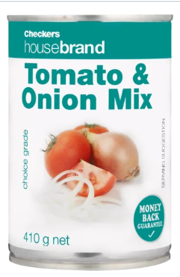 Picture of Checkers Housebrand Tomato Onion Mix Can 410g