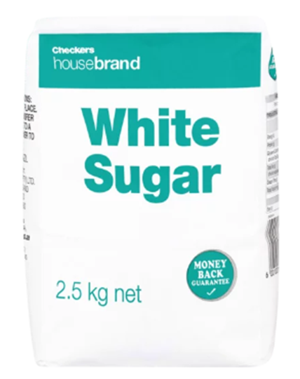 Picture of Checkers Housebrand White Sugar Pack 2.5kg
