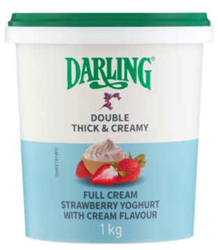 Picture of Full Cream Yoghurt Strawberry With Cream 1kg