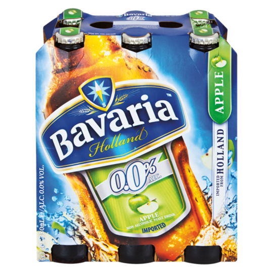 Picture of Bavaria Holland Apple Non-Alc Beer 6x330ml Bottle