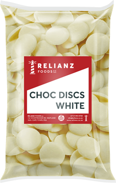 Picture of Relianz White Choc Discs Pack 1kg
