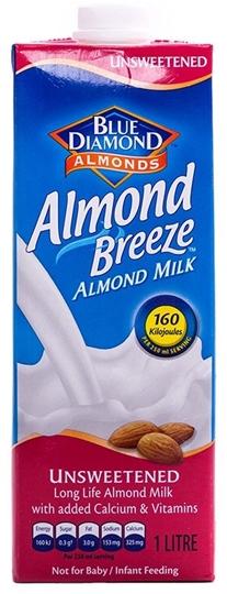 Picture of Almond Breeze UHT Unsweetened Almond Milk 12 x 1l