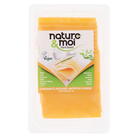 Picture of Nature & Moi Vegan Cheddar Cheese Slices Pack 200g