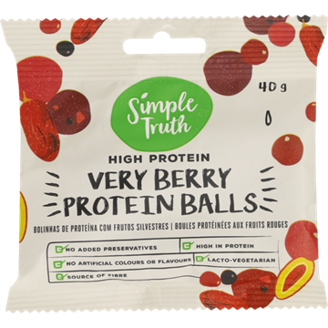 Picture of Simple Truth Very Berry Choc Protein Ball 20x40g