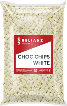 Picture of Relainz White Choc Chips Pack 1kg