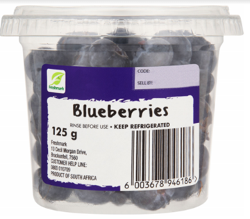 Picture of Blueberry Berry Pack 125g