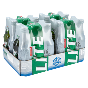 Picture of Castle Lite Beer Bottles 24 x 340ml